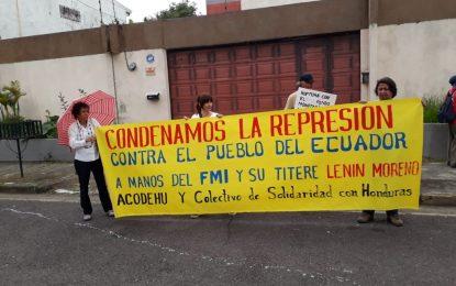Condenan represión contra el pueblo ecuatoriano